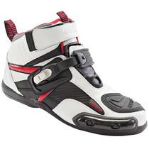 Botas Piel Con Proteccion Joe Rocket Atomic Shoe Blanco