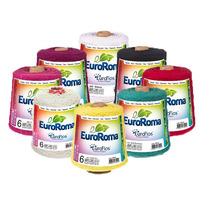 Kit 15 Barbantes Euroroma Colorido Fio 8 E 6 Frete Grátis