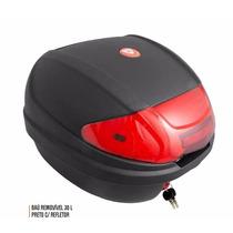 Bau Bauleto Moto 30 Litros 30lts Universal Removível - Oxy