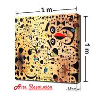 Cuadro Moderno. Joan Miró: El Bello Pájaro..., 1 X 1 M.