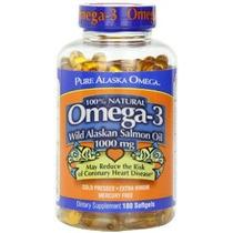 Pure Alaska Omega-3 Wild Alaskan Salmon Oil 1000mg Softgels
