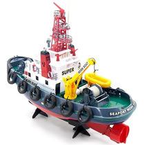 Barco Rebocador De Controle Remoto Workboat, Bem Detalhado