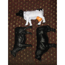 Toro Y 2 Vacas Angus Negro New Ray Ltd Papo Schleich Caballo