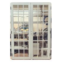 Portón De Abrir En Aluminio Blanco De 150x200 Repartido