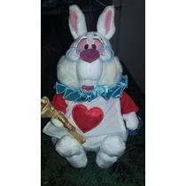 Peluche Conejo Blanco Alicia En El Pais De Las Maravillas!!!