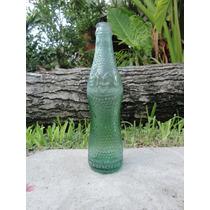 Bidu Cola Antigua Botella Labrada Vidrio Verde Ind Argentina