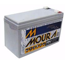 Bateria Moura Estacionária 12v 7a Vrla Nobreak Alarme Cerca