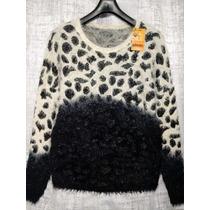 Sweater Pelo De Mono Combinado Con Hilo De Lurex