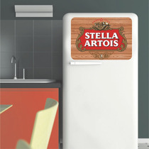 Adesivo Parede Porta Geladeira Placa Cerveja Stella Artois