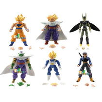 Kit Com 6 Bonecos Dragon Ball Z Kai Dbz Goku Vegeta Gohan