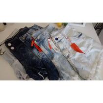 Roupas Femininas / Short Jeans Handara Hot Pants/ Detonado