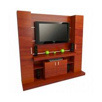 Centro De Entretenimiento Tables Caoba 190cm Mod.1100