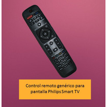 Control Remoto Para Pantalla Philips Smart Tv