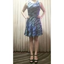 Vestido Estampado Lindo Transparente Nas Costas Usado 1 Vez