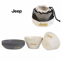 Vajilla Jeep De Campo Para 4 Personas De Bambú