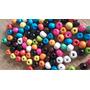Cuentas De Madera Pintadas X1500 Unid Colores Surtidos