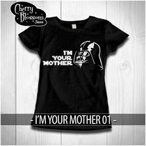 Promocio Playeras Star Wars 10 Mayo Cumpleaños Mamá Regalo