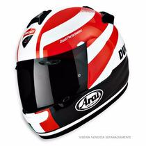 Capacete Arai Chaser Ducati Corse Sbk - Tamanho 56, 62 Moto