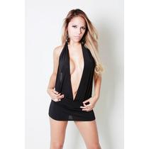 Vestido-mini- Escote Marylin Sexy!! Negro