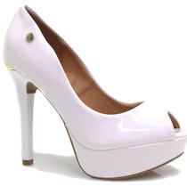 Sapato Vizzano Peep Toe Meia Pata | Zariff