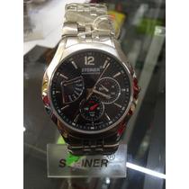 Reloj Steiner Acero Maquinaria Suiza Multifunciones