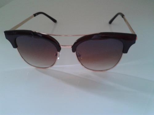 1e4fc2d35 Óculos De Sol Feminino Vintage Retrô Gatinho Marrom Lindo - R$ 49,00 ...