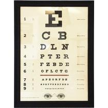 Poster Eye Chart, Eye Test, Tabla Optometrica Examen Vista