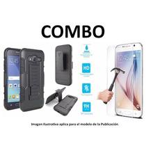 Protector Uso Rudo + Vidrio Templado Huawei Lte Tag L13 Gr3