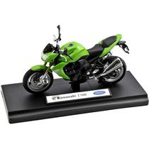 Miniatura Moto Kawasaki Z1000 Ano 07 Escala 1:18 - Verde