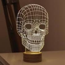 Lámpara Decorativa Con Luz Led, Cráneo