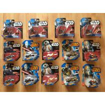 Lote De 14 Hot Wheels Star Wars Bb8 Tie Boba Fett Varios