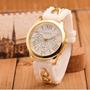 Reloj Geneva Elegante Pantalla De Cuarzo Blanco Incluye Caja