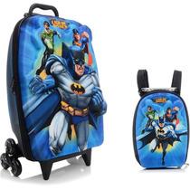 Mochila Escolar Mochilete 3d Liga Da Justiça Batman Maxtoy
