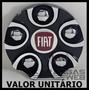 Calota Tampa Miolo Centro Roda Noova Nv22 Fiat Preto Aro 17