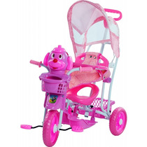 Carrinho Bebê Triciclo Capota Música Luz Gangorra Bel 910700