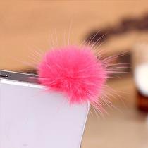 Dust Plug Cubre Polvo Accesorio Celular Bola De Pelo Pompon