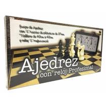 Ajedrez Con Reloj Profesional - Fichas De Plástico