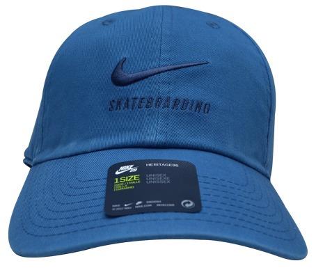7ddc5fc430 Boné Nike Sb Heritage 86 Aba Curva Azul Original - R  99