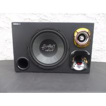 Caixa Trio Montada Sub 12 Driver E Tw 350 Watts Rms Com Amp