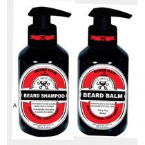 Barba Cabelo E Bigode Kit Beard Hair Completo 250 Ml + Loção