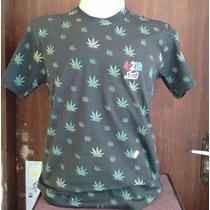 Camisa Lost 4:20 Erva Maconha Cannabis Diversas Cores P Entr