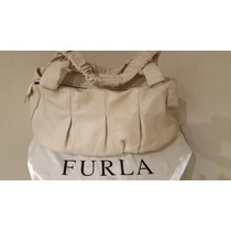 Cartera Furla Italiana Color Tiza. Impecable. Divina