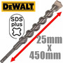 Mecha Rotomartillo Sds Plus Widia Pared *dewalt 25mm X 450mm