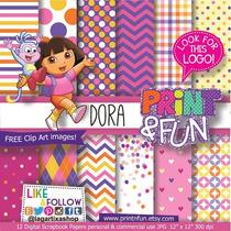 Kit Digital Scrapbook Dora Aventureira + Brinde