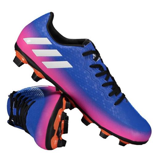 d09ee4564a chuteira adidas messi 16.4 fxg campo azul e rosa. Carregando zoom.