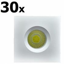 30 Mini Spot Embutir Led Cob 3w Branco Frio 6k Qd Teto Pared
