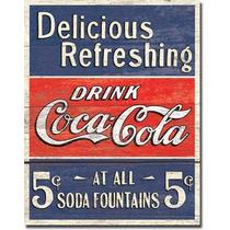Anuncio Poster Lamina Metalico Vintage Coca Cola Drink 0134