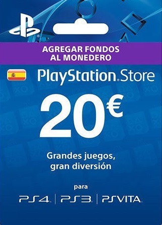 Card 20 Euros Play Station Psn Espana Ps3 Ps4 Vita S 84 00 En
