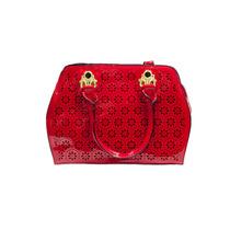 Bolsa Feminina Vermelha Grande C/ Detalhes Transversal Ombro