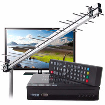 Kit 2 Conversores Digitais 2 Antenas Tv Antiga Tubo E Novas